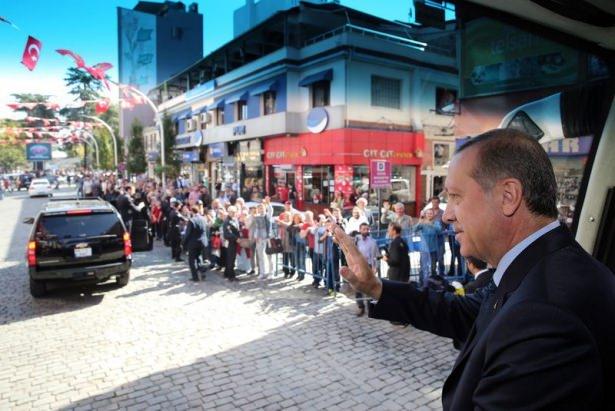 Cumhurbaşkanı'na Trabzon'da sevgi seli 1