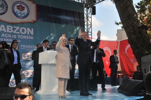 Cumhurbaşkanı'na Trabzon'da sevgi seli 21