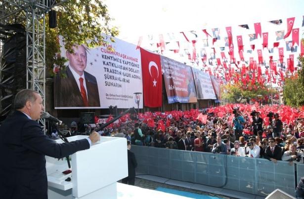 Cumhurbaşkanı'na Trabzon'da sevgi seli 28