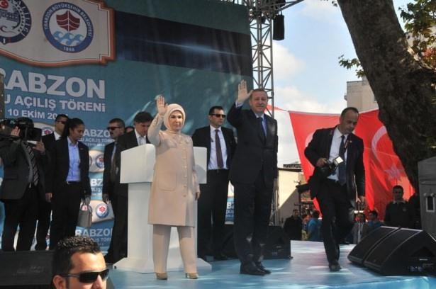 Cumhurbaşkanı'na Trabzon'da sevgi seli 4