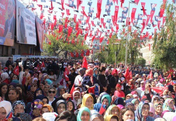 Cumhurbaşkanı'na Trabzon'da sevgi seli 8