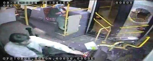 İçi yolcu dolu otobüse taşlı saldırı 6