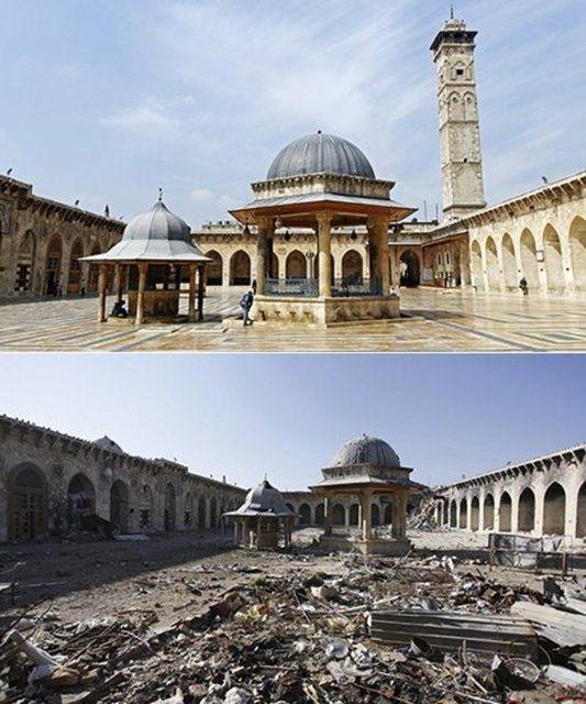 Suriye'de savaşın sebep olduğu tahribat 1