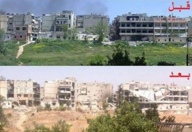 Suriye'de savaşın sebep olduğu tahribat 10