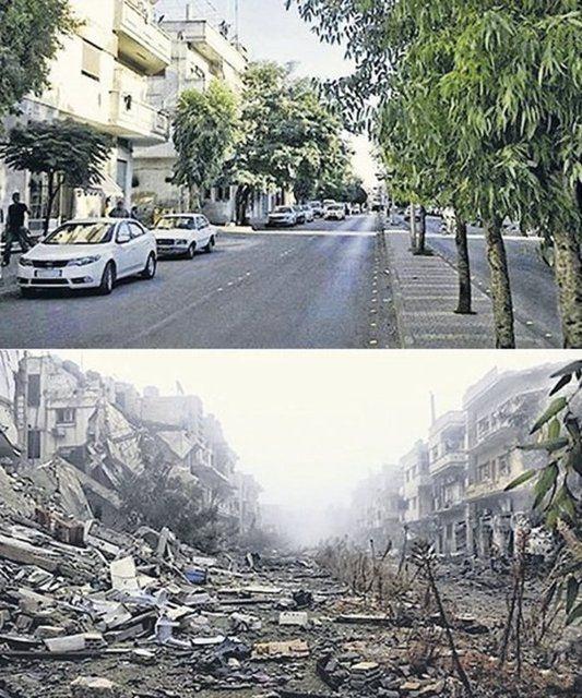 Suriye'de savaşın sebep olduğu tahribat 13