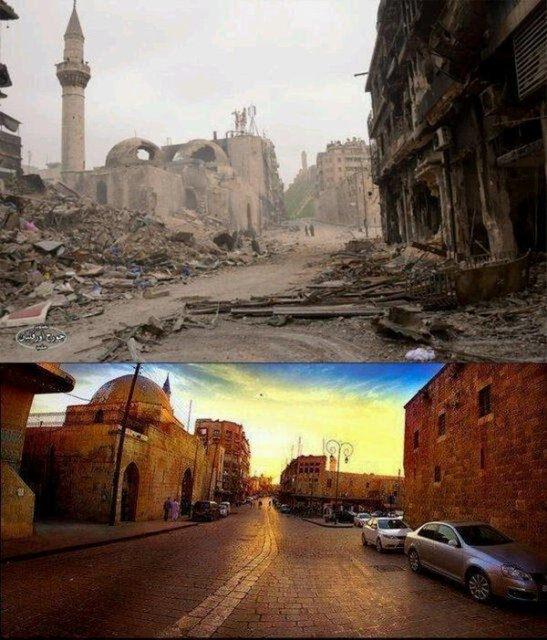 Suriye'de savaşın sebep olduğu tahribat 15