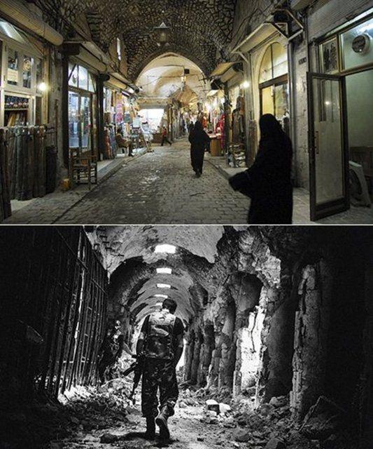 Suriye'de savaşın sebep olduğu tahribat 2