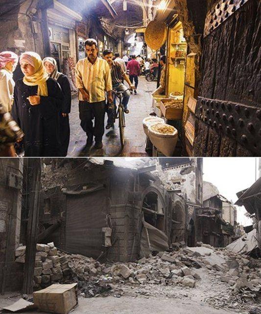 Suriye'de savaşın sebep olduğu tahribat 6