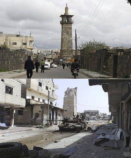 Suriye'de savaşın sebep olduğu tahribat 7