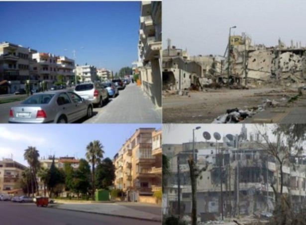 Suriye'de savaşın sebep olduğu tahribat 9