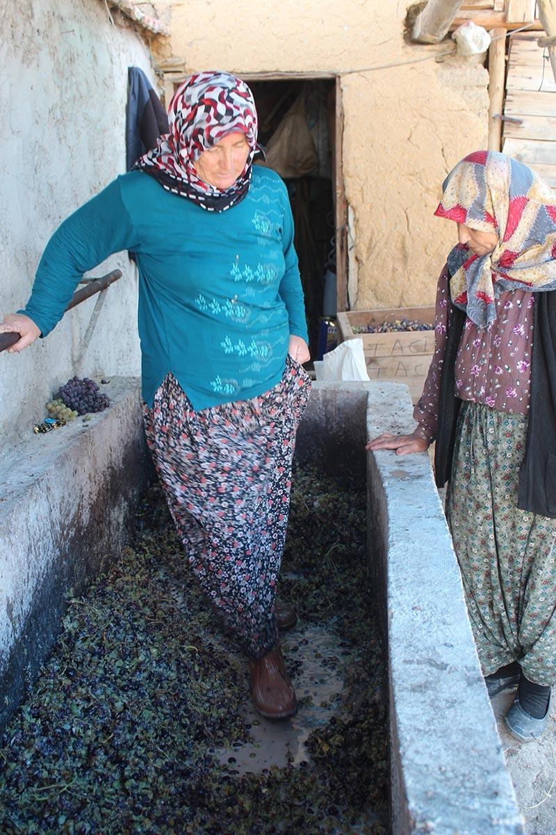 Köylü kadınların zorlu pekmez mesaisi 6