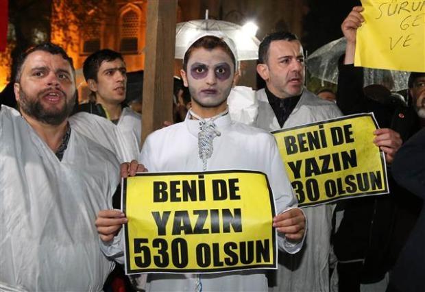 Ayasofya'da protesto edildi 1