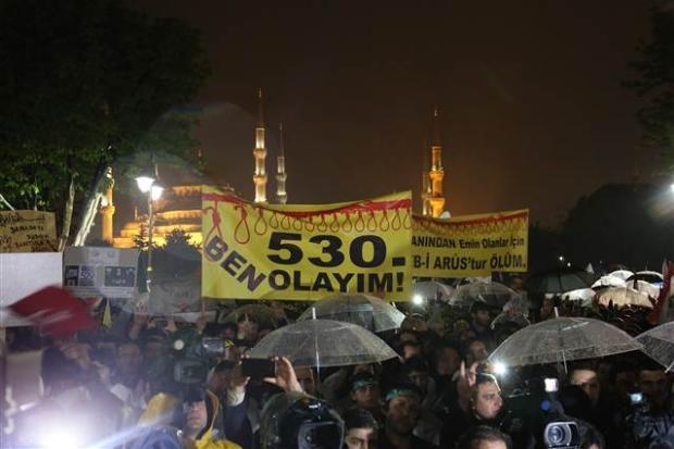 Ayasofya'da protesto edildi 11