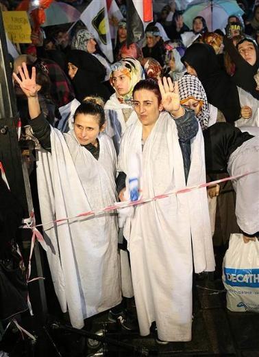 Ayasofya'da protesto edildi 13
