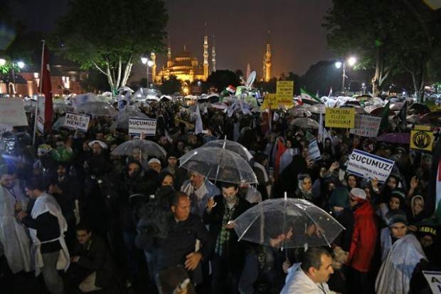 Ayasofya'da protesto edildi 14