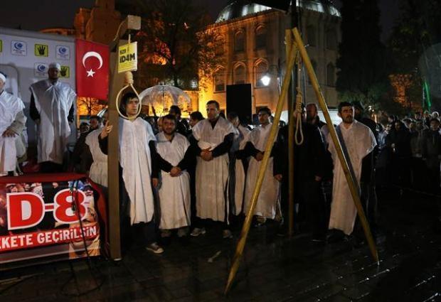 Ayasofya'da protesto edildi 15