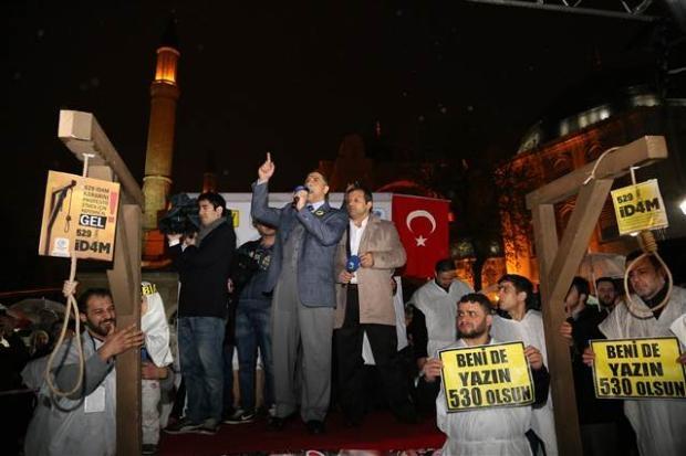 Ayasofya'da protesto edildi 2