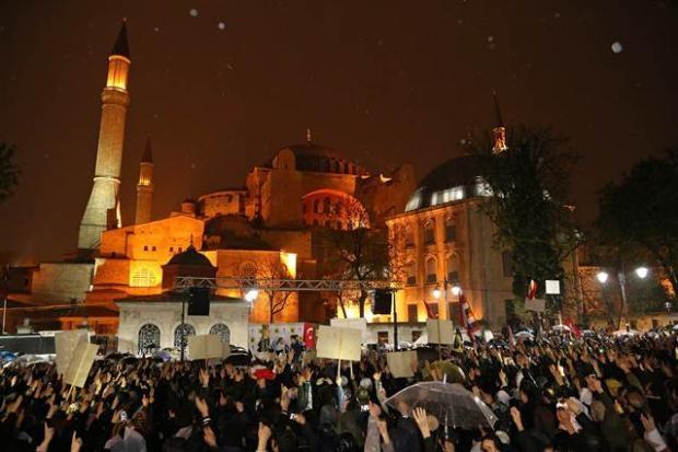Ayasofya'da protesto edildi 3