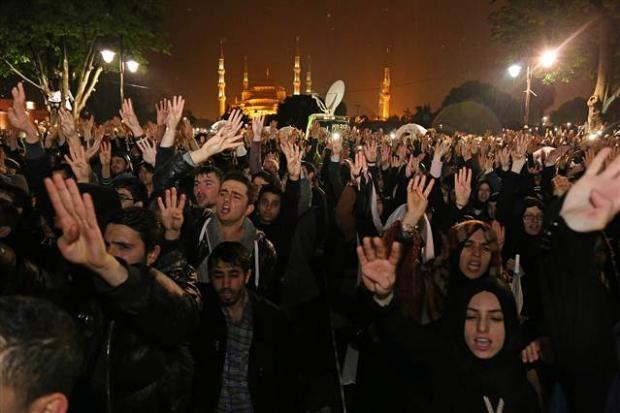 Ayasofya'da protesto edildi 4