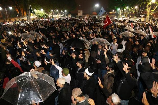 Ayasofya'da protesto edildi 5