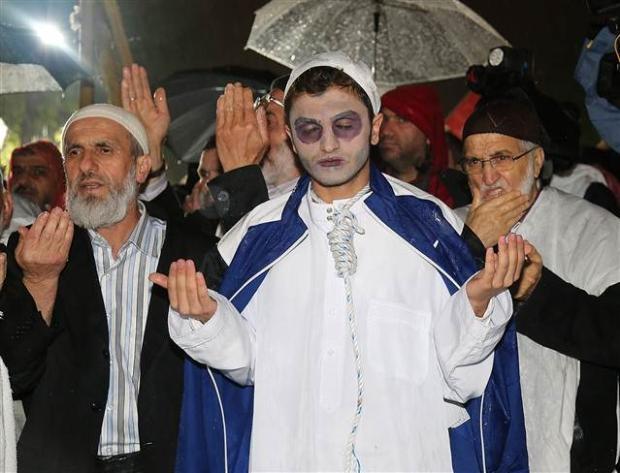 Ayasofya'da protesto edildi 7