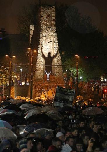 Ayasofya'da protesto edildi 8