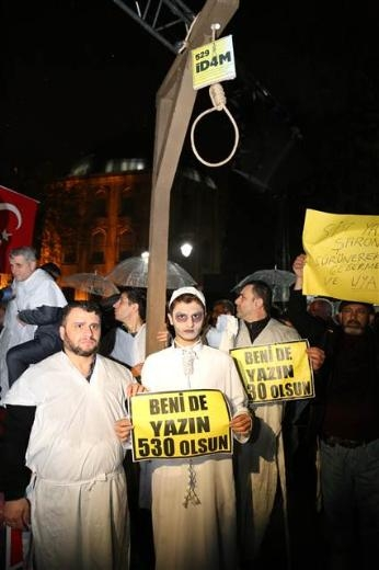Ayasofya'da protesto edildi 9