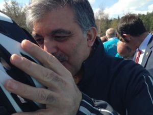 Cumhurbaşkanı Abdullah Gül bisiklete bindi