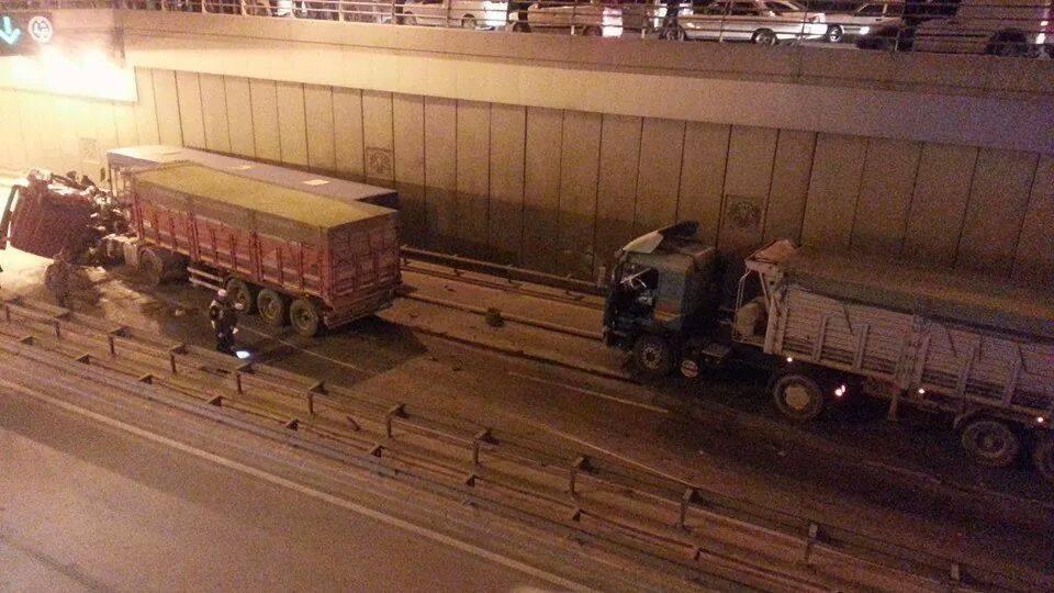 Ankara yolunda kaza 1