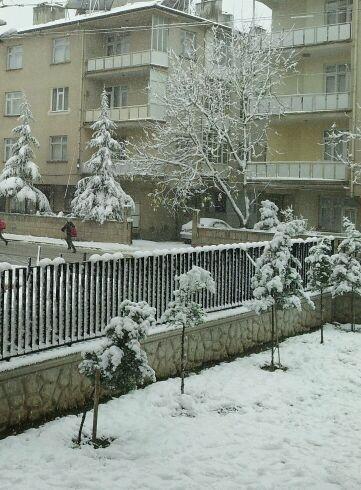 Konya'dan kar manzaraları 16