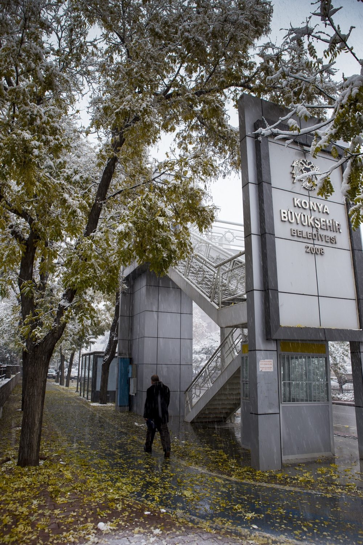 Konya'dan kar manzaraları 18