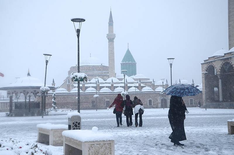 Konya'dan kar manzaraları 23