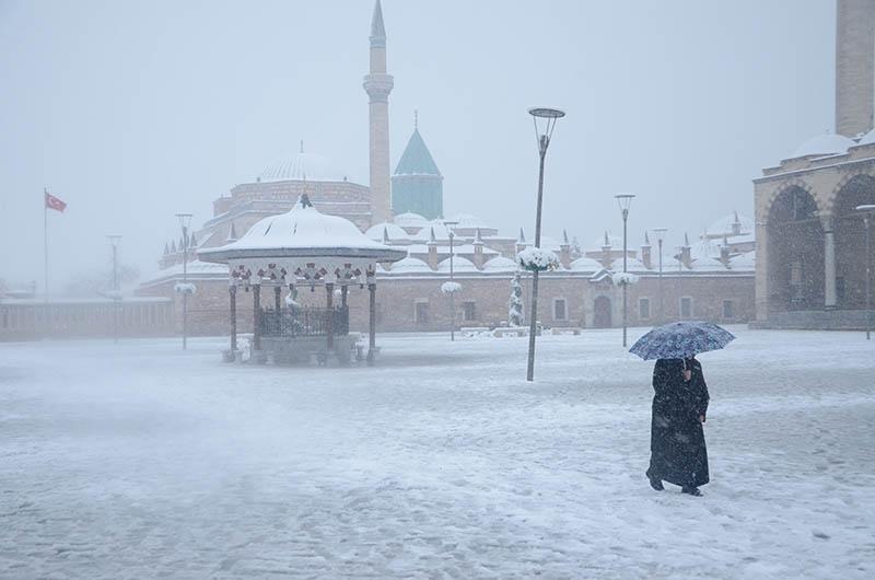 Konya'dan kar manzaraları 24