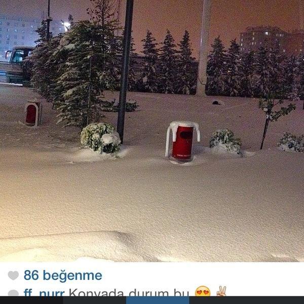 Konya'dan kar manzaraları 33