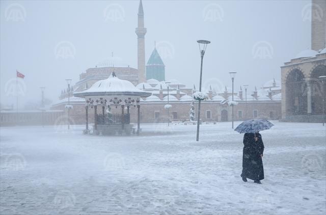 Konya'dan kar manzaraları 39