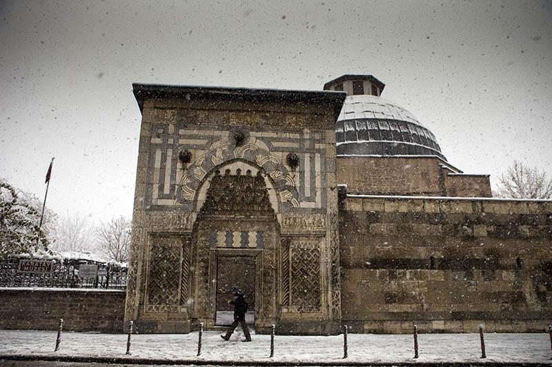 Konya'dan kar manzaraları 40