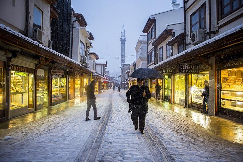 Konya'dan kar manzaraları 48