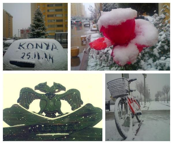 Konya'dan kar manzaraları 6