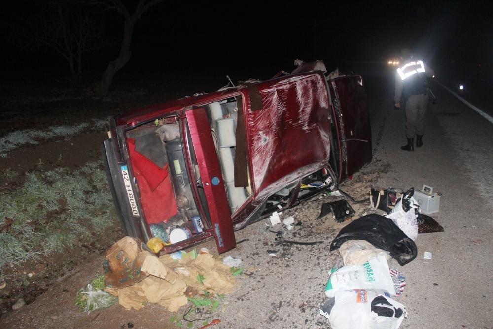 Konya'da tırla otomobil çarpıştı: 6 yaralı 2