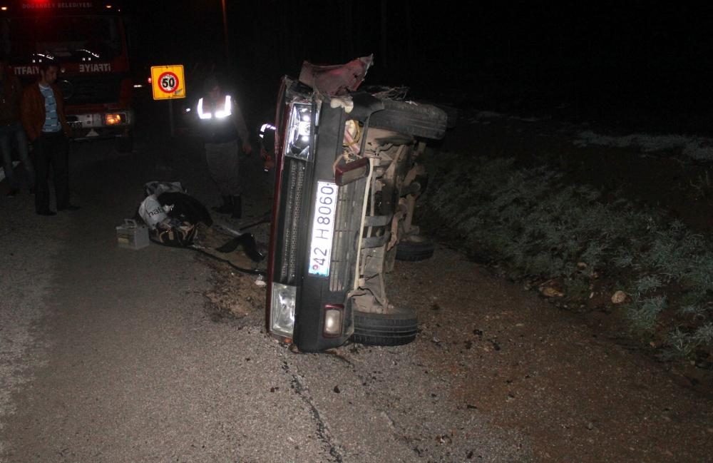 Konya'da tırla otomobil çarpıştı: 6 yaralı 4