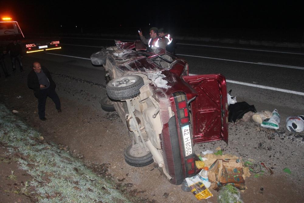Konya'da tırla otomobil çarpıştı: 6 yaralı 5