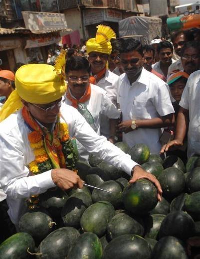 Hindistan'daki seçimlerden renkli kareler 12