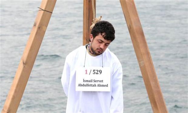Üsküdar'da Mısır'daki idam cezası kararlarına protesto 18