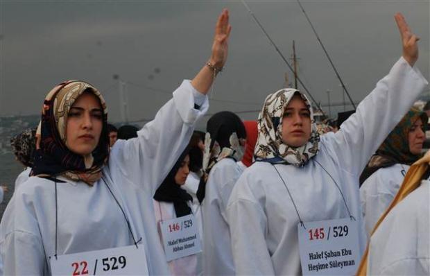 Üsküdar'da Mısır'daki idam cezası kararlarına protesto 7