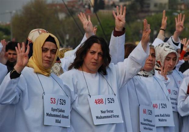 Üsküdar'da Mısır'daki idam cezası kararlarına protesto 8