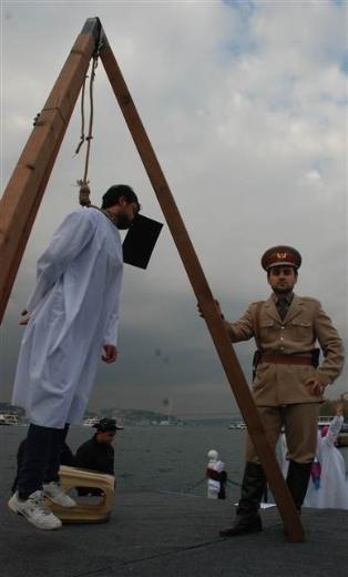Üsküdar'da Mısır'daki idam cezası kararlarına protesto 9