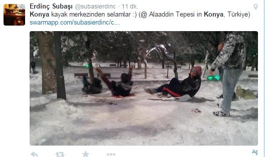 Konya'da kar ve tatil esprileri 13