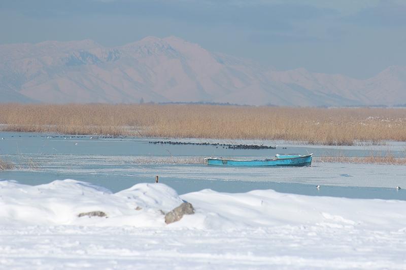 Beyşehir Gölü kıyıları buz tuttu 5
