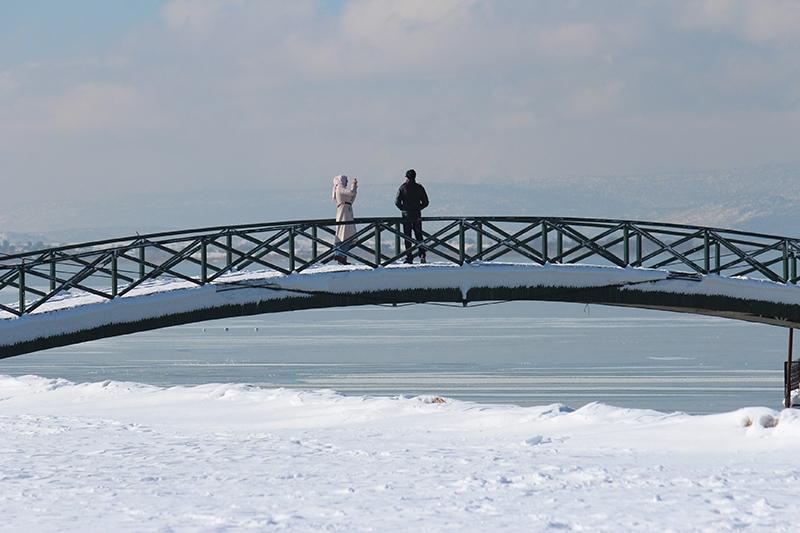 Beyşehir Gölü kıyıları buz tuttu 8