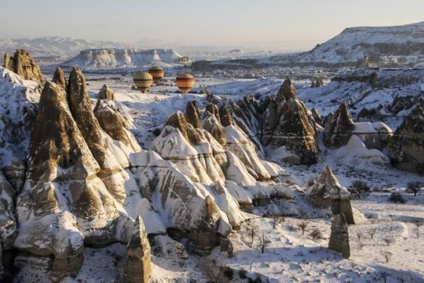 Kapadokya'da sıfırın altında balon turu 11